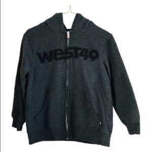 West 49 Hoodie Black Long Sweater Youth SZS(7/8)